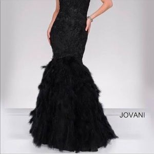 Jovani Strapless Mermaid Gown Size 12-14